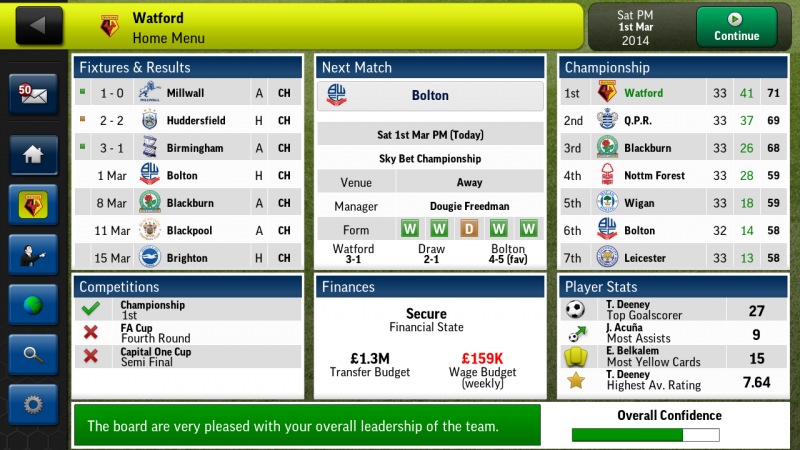 Football Manager Handheld 2014 (Android) | Sports Interactive