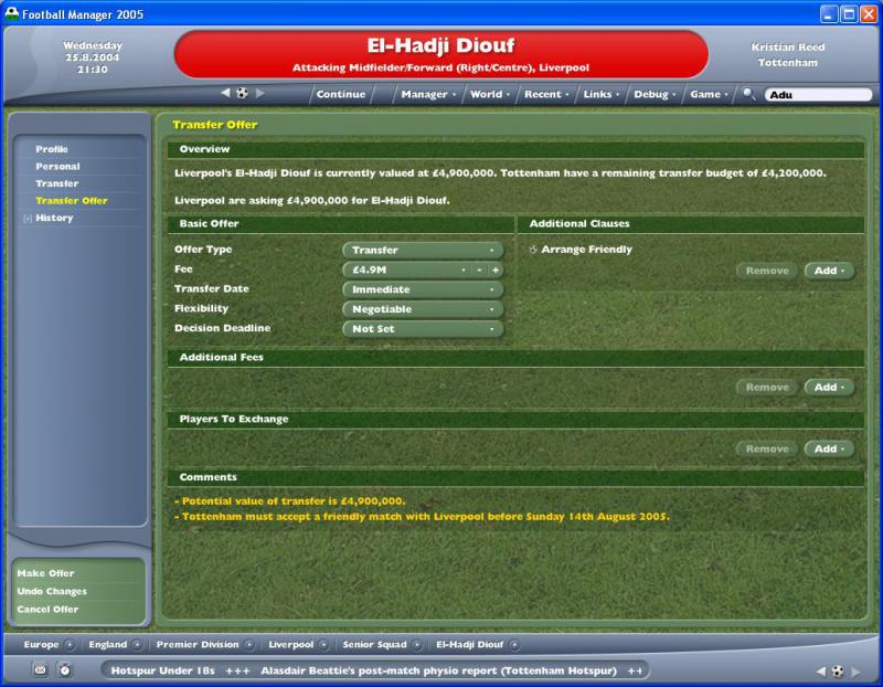 Football Manager 2005 Sports Interactive